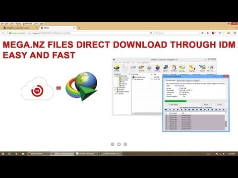 How To Download MEGA files directly through IDM(internet download manager)  in Hindi