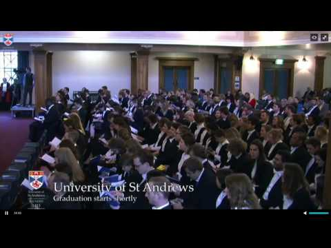 Graduation ceremonies University of St Andrews  01 12 2016