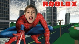 I TURNED THE SPIDER MAN PLAYING ROBLOX | Peter Let's Play
