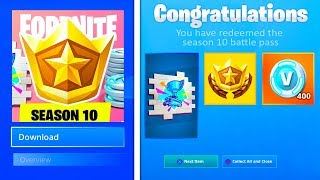 How To Redeem FREE *SEASON 10 BATTLE PASS* In Fortnite!