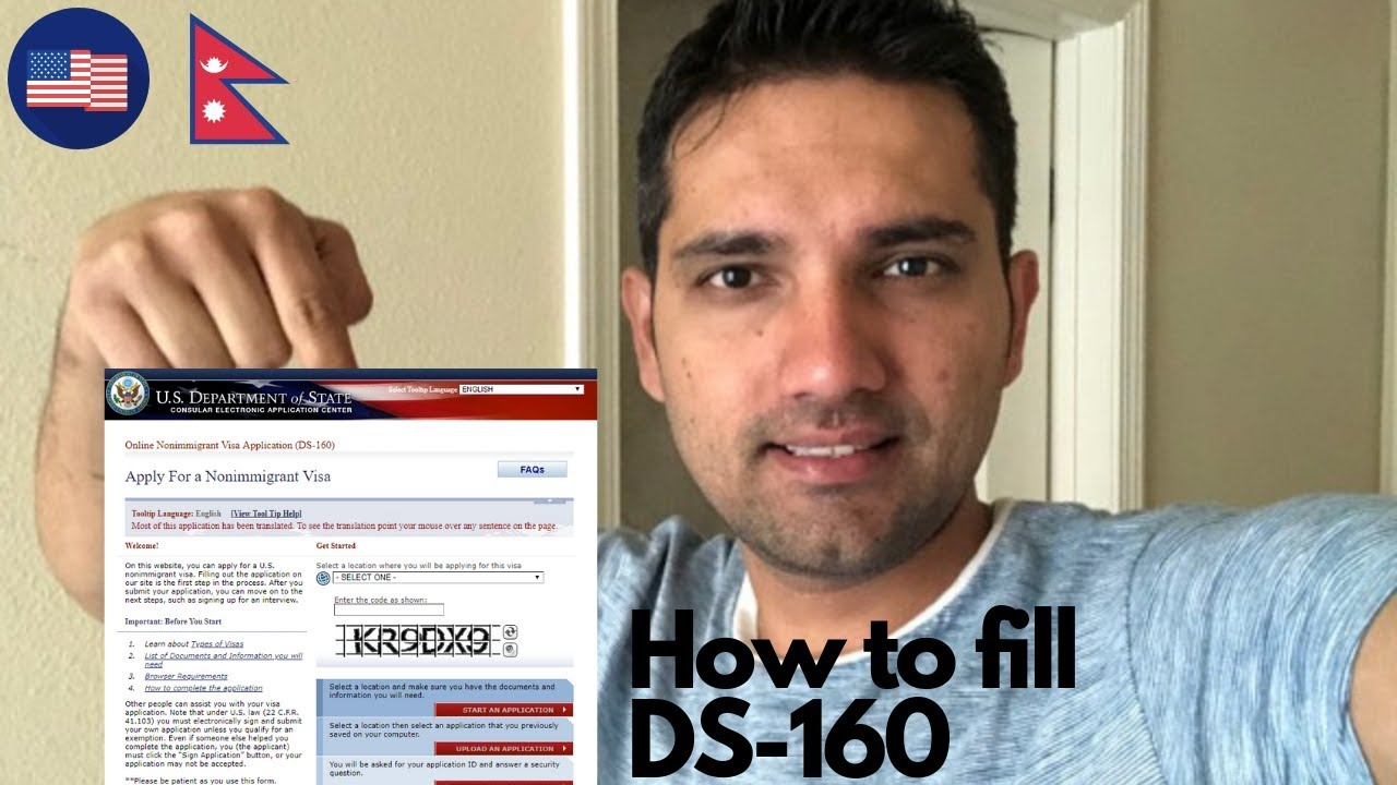 How To Fill Ds 160 Form For Nepali Students Youtube
