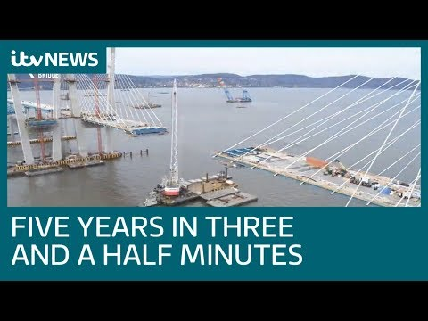 Timelapse shows construction of $4 billion Hudson River Bridge | ITV News