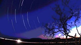 Uluru star trail time lapse