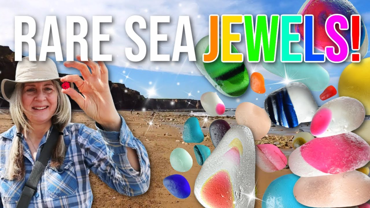 Rare Multicoloured Sea Glass! Beachcombing at Seaham Beach for Incredible Treasures!