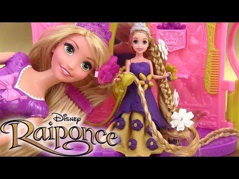 Pâte à modeler Princesse Raiponce Salon de Coiffure Play Doh Rapunzel Shimmer Style Salon Playset