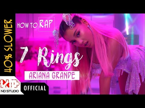 "How To Rap ARIANA GRANDE ""7 RINGS"" 40% Slower"