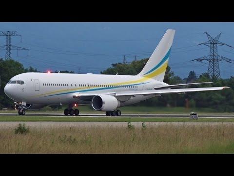 [FullHD] Comlux Boeing 767-200(ER) takeoff at Geneva/GVA/LSGG