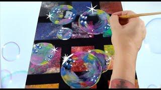 How to paint Bubbles *Seifenblasen malen
