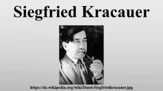biography of siegfried kracauer