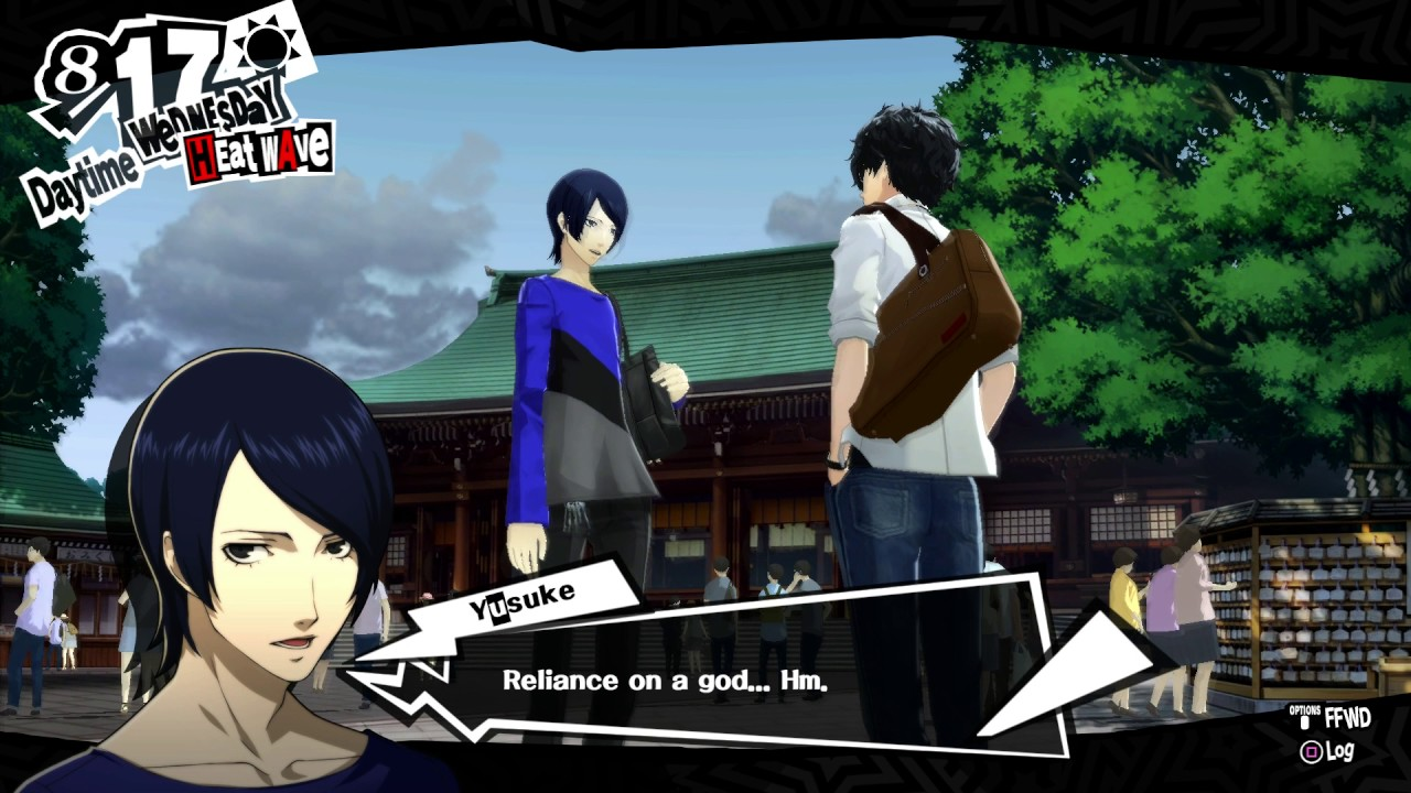 Persona 5 - 8/17 Wednesday: Hang Out with Yusuke Kitagawa at Meiji ...