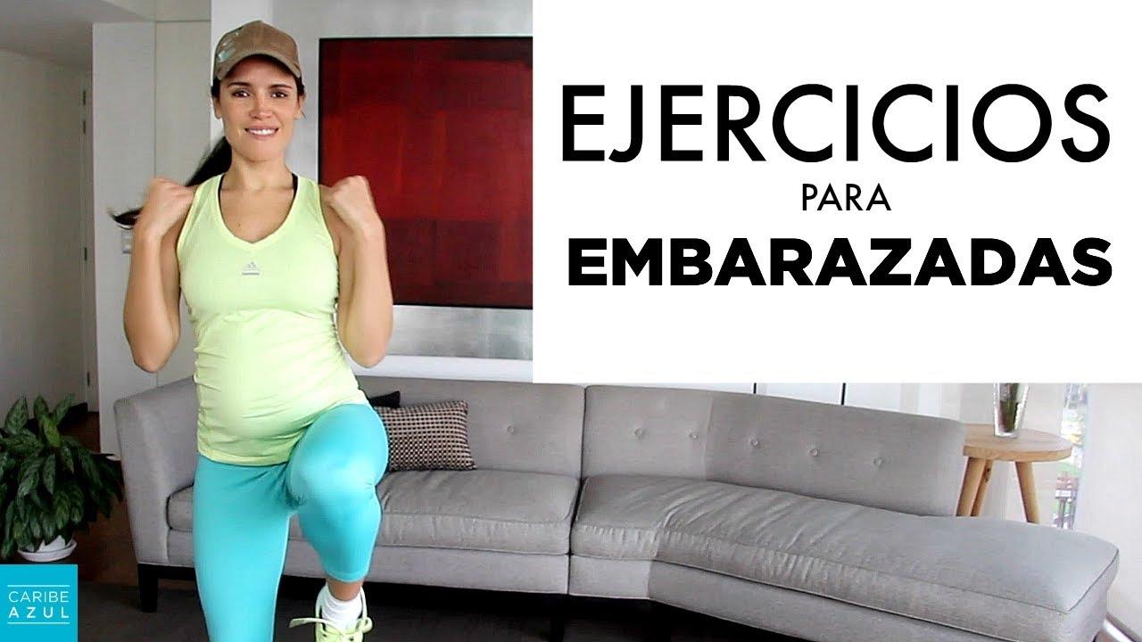 tabla de ejercicios para embarazadas en casa