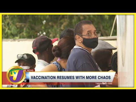 Vaccination Resumes in Jamaica with more Chaos | TVJ News - June 23 2021