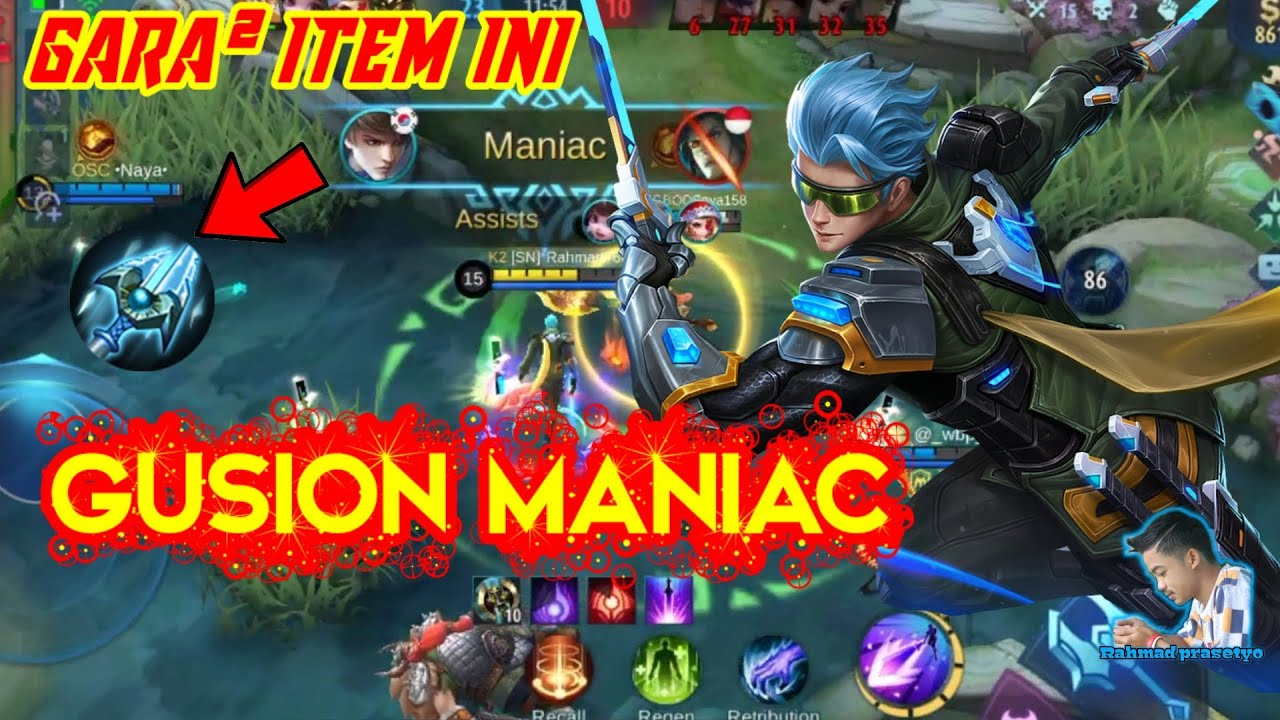 GUSION MANIAC GARA GARA ITEM FREEZE - Mobile Legends