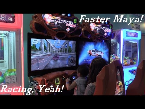 Amusement Park: Super Cars Arcade Game Playtime w/ Hulyan and Maya + Basketball Time Fun!