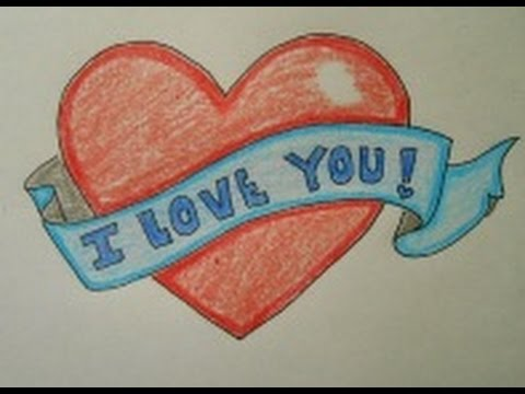 i love you heart drawings - photo #20