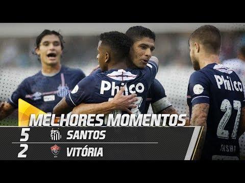 Santos 5 x 2 Vitória | MELHORES MOMENTOS | Brasileirão (03/06/18)