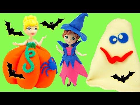 Хэллоуин наряды принцесс из пластилина для детей
