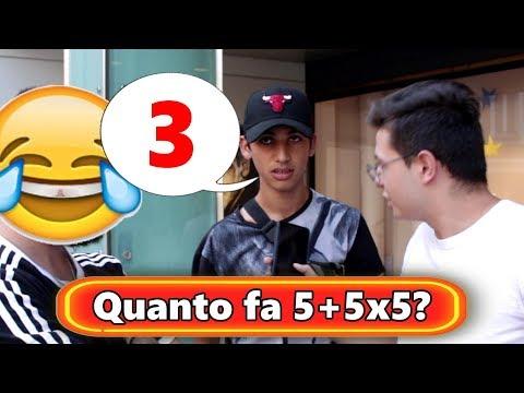 IDIOTATEST: Quanto fa 5+5x5?
