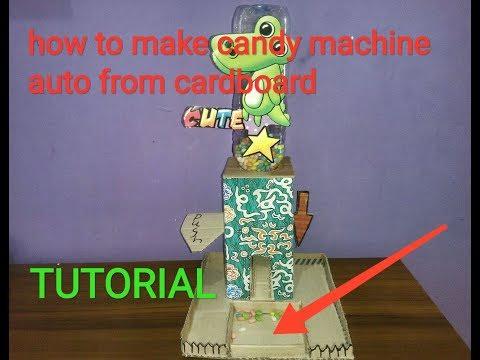 CARA MEMBUAT MESIN PERMEN / DIY HOMEMADE how to make candy machine cardboard