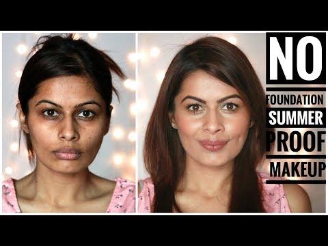 No Foundation, Sweat Proof Summer Minimal Natural Makeup   HINDI   No Makeup Makeup Look   Kavya K