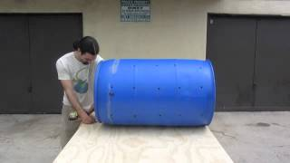 How To Make Your Own Home Made Compost Tumbler Step By Step.