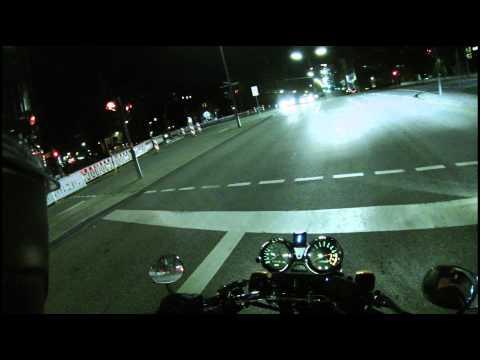 Motorcycle Night tour in Hamburg (Germany) - GoPro Hero 3 Black [1080p]