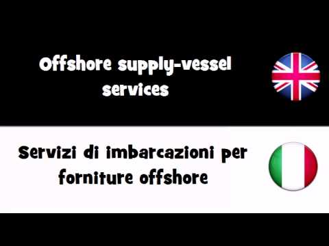 VOCABULARY IN 20 LANGUAGES = Offshore supply vessel services