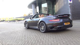 porsche 991 turbo s with capristo exhaust revs launch control