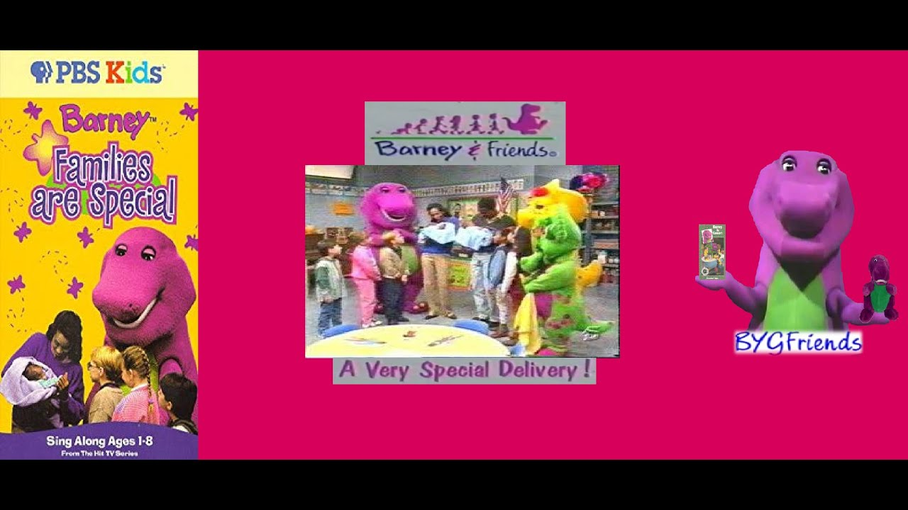 Barney & Friends Season 2, Episode 18: A Very Special Delivery! aka  Families are Special (PBS VHS)
