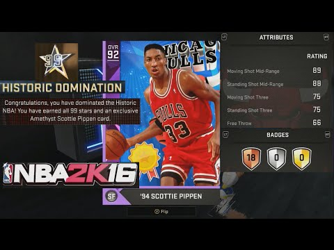Amethyst Scottie Pippen Attribute Ratings & Badges - Operation