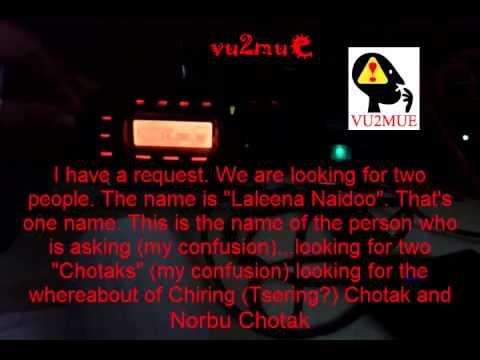 Colin CT7ACG Portugal and Amir 4X6TT Israel Nepal Emergency International Ham Radio Communication