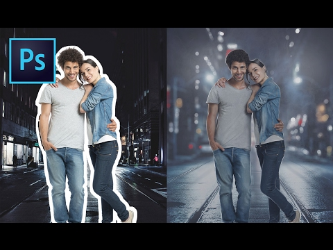 Photoshop Tutorial | How To Retouch, Removing Background, Compositing | Couple Photo Manipulation