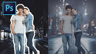 How To Retouch, Remove Background, Composite | Couple Photo Manipulation Photoshop Tutorial
