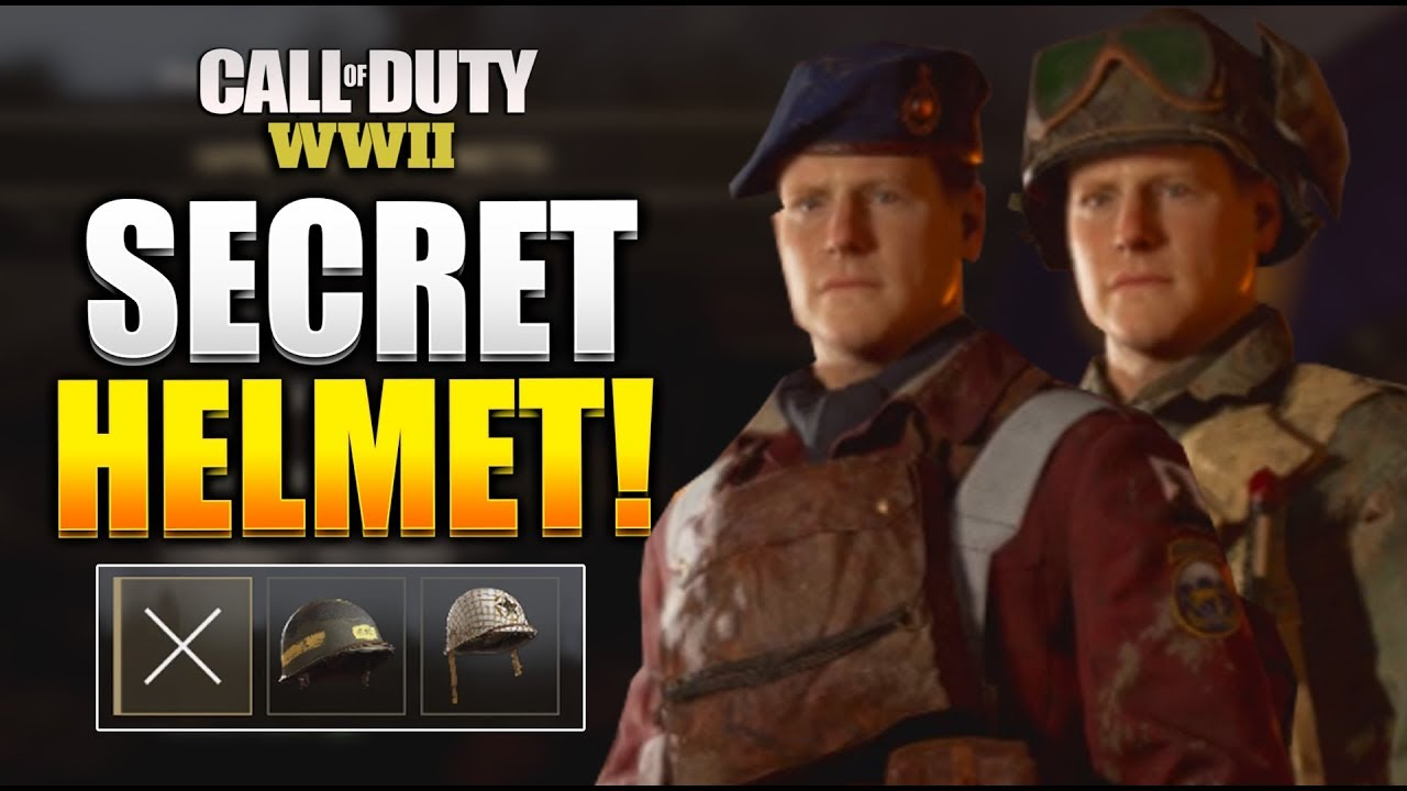 COD WW2 HOW TO GET SECRET/UNIFORM HELMETS! HOW TO EQUIP A NEW HELMET (GUIDE  )