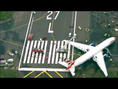 AUDIO: British Airways ATC CRASH at Heathrow Boeing 777 from Beijing Audio  Only