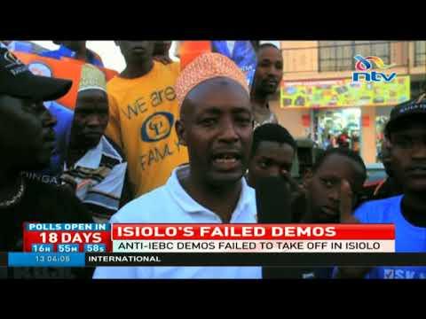 Anti-IEBC demos fail to take off in Isiolo