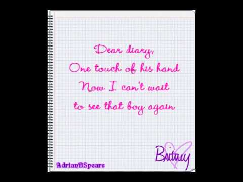 Britney Spears - Dear Diary Lyrics