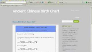 Chinese Birth Chart--How to Predict Baby Gender