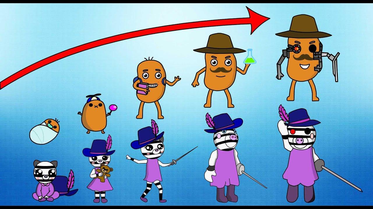 Roblox Piggy Characters growing ups- Art video