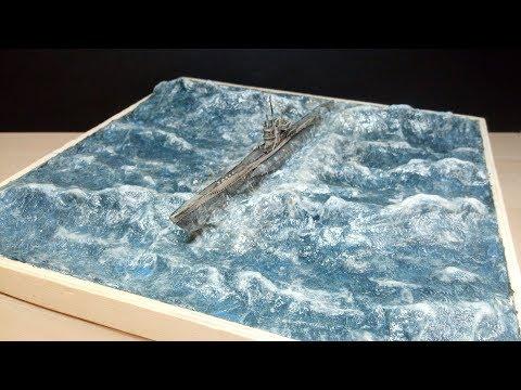 Revell German U-Boot Typ VII - 1/350 Ozean Diorama // Timelapse Build
