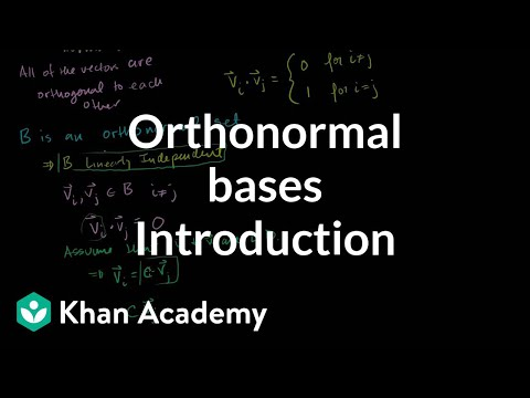 Introduction to orthonormal bases | Linear Algebra | Khan Academy
