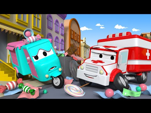 Thumbnail: Carrie the Candy Car ! - Amber the Ambulance in Car City l Cartoons for Children