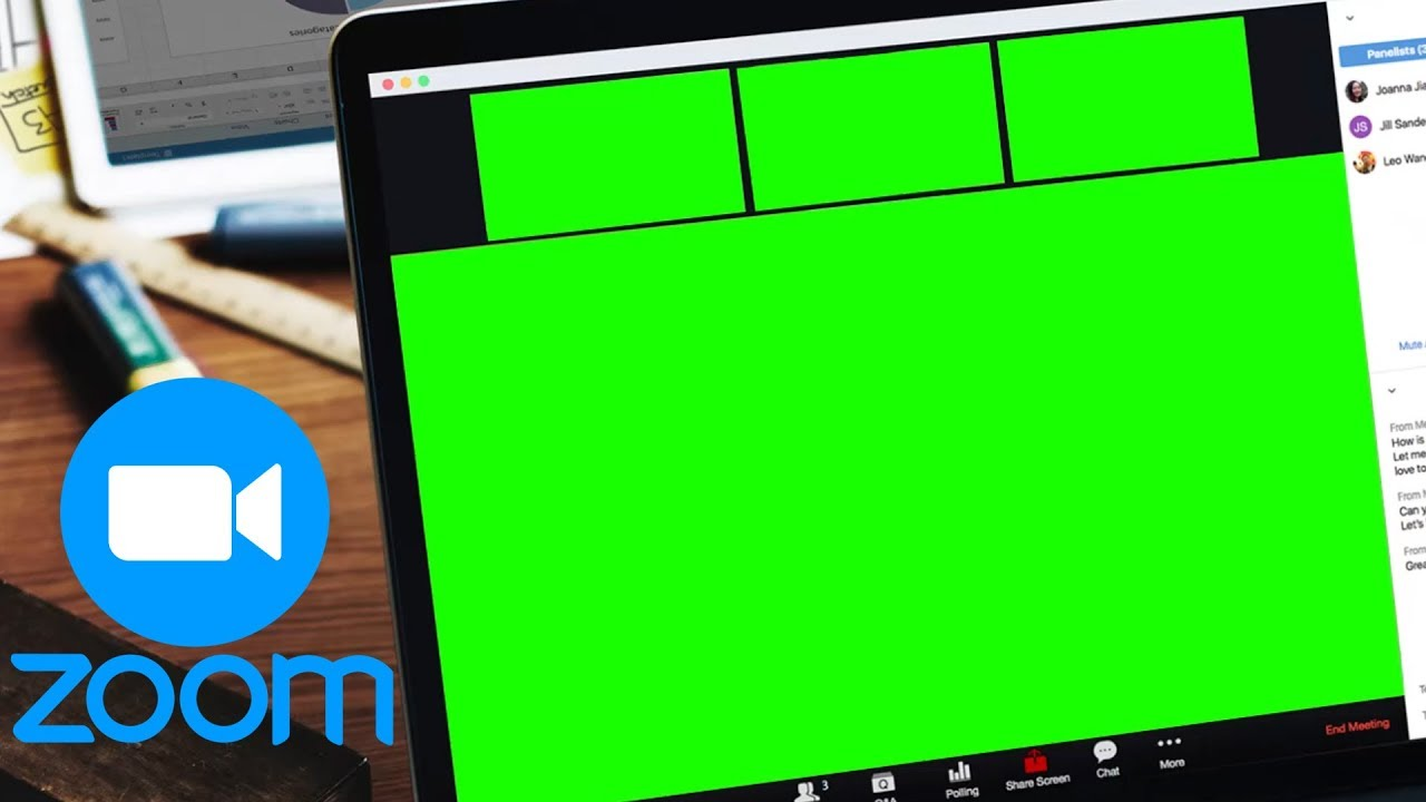 Zoom Virtual Background Green Screen Template Free Download Youtube