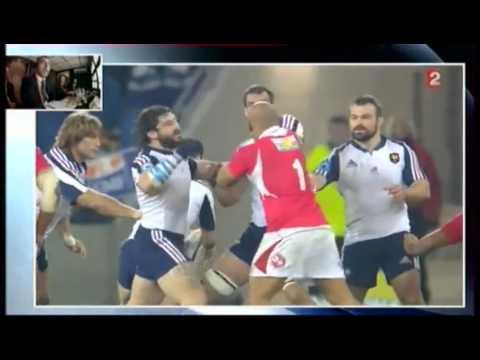 France vs Tonga 38 18 Bagarre Yoann Maestri et Sona Taumalolo Test Match 16 Novembre 2013 Rugby