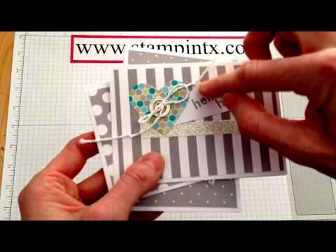 Happenings Simply Created Card Kit and How to Thread a Button Trick