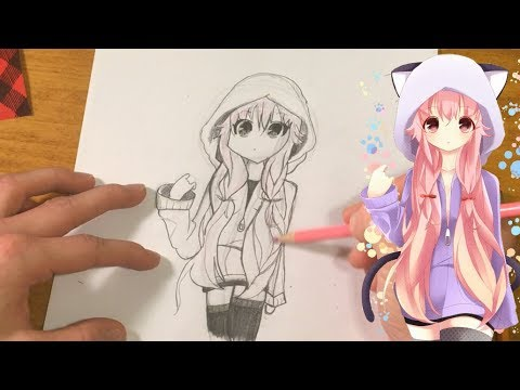 how-to-draw-anime-beginners:-girl-with-animal-hoodie