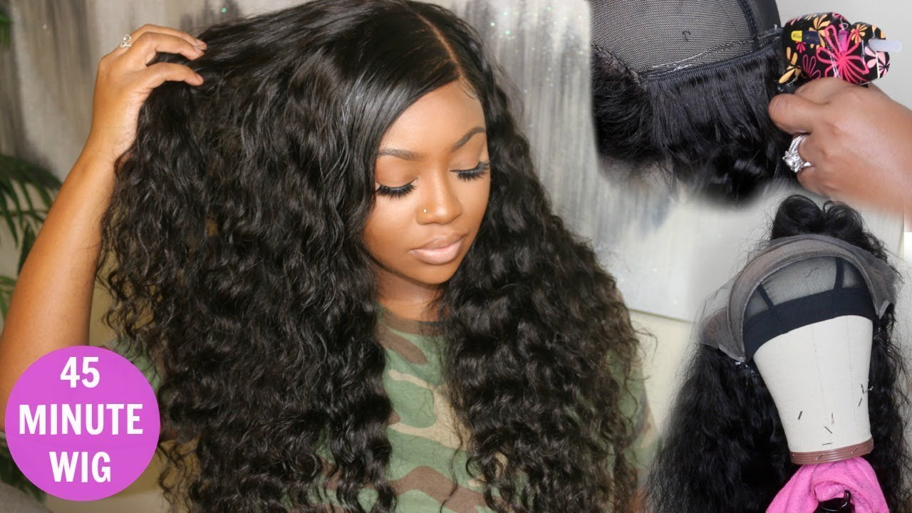 Quick Weave Lace Front Wig Tutorial Hot Glue Method Celie Hair