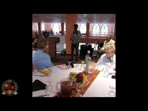 SAMBAY AMAZES SENIOR CITIZENS WITH NIGERIAN TALKING DRUM 6/27/19