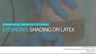 Permanent makeup tutorial: shading on latex / Уроки татуажа:растушевка на латексе(, 2016-06-10T23:43:09.000Z)