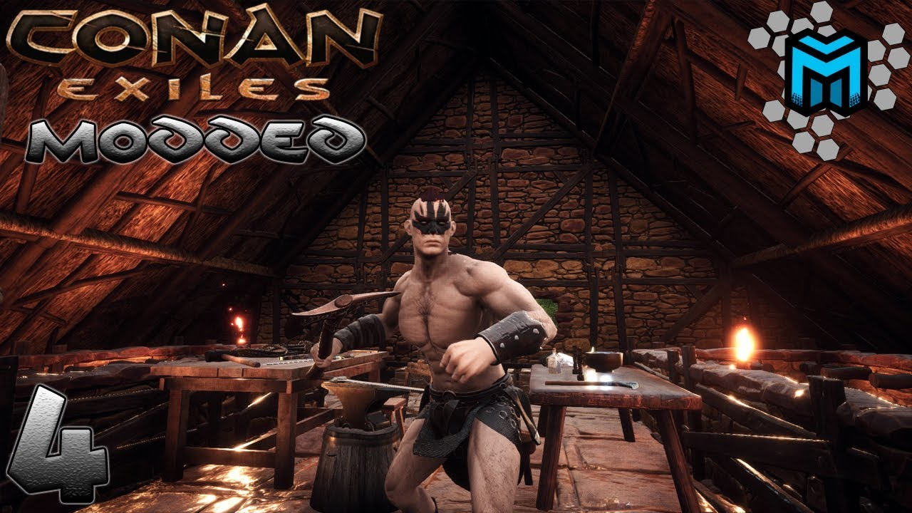 Video MODDED Conan Exiles | WORKSHOP, MODDED TOOLS, & GOLD BARS EP04
